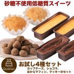 低糖質 スイーツ お試し4種セット チーズケーキ・ショコラ・おからマフィン・クッキーの4種のセット