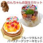 わんちゃんお誕生日ディナーセット フルーツタルトとバースデーデリケーキセット 送料無料