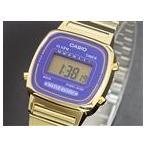 ★ カシオ CASIO クオーツ デジタル レディース 腕時計 LA670WGA-6 パープル/ゴールド ★