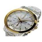 ★ セイコー プルミエ クロノ クオーツ レディース 腕時計 SNDV70P1 ホワイトシェル ★ ラッピング可