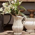 CERAMIC VASE COUNTRY NOMA ノーマ 120-482-100【フラワーベース 花器 花瓶 資材 花材 陶器雑貨 インテリア雑貨 ホワイト 白 アンティーク調】