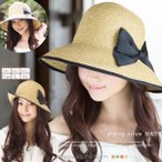 Straw Hat - UVハット 58 60 62cm 商品名 パイピング麦わらHAT 麦わら帽子 UVカット 帽子 レディース 大きいサイズ 日よけ 女優帽 つば広 ストローハット 春 夏