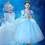 W64  ディズニープリンセス  シンデレラ キッズ子ども お姫様 コスチューム エルサドレス 子供用ドレス キッズドレス  なりきりワンピース プリンセスドレス