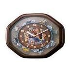 ● ワンピースからくり 掛け時計 4MH880-M06 ブラウン キャラクター●