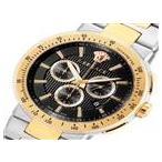 ●ヴェルサーチ ミスティック スポーツ クロノ クオーツ メンズ 腕時計 VFG100014 ブラック● ラッピング可