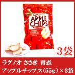 送料無料 ラグノオ ささき アップルチップス55g×3袋 (りんごスナック)