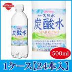 サンガリア 伊賀の天然水 炭酸水 500ml×24本 PET ペットボトル スパークリング