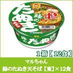 マルちゃん 緑のたぬき 天そば 101g 1ケース 12食入 東日本 ポイント消化