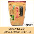 大潟村あきたこまち 発芽玄米 無洗米 1kg