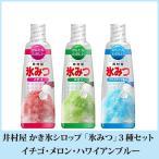 井村屋 かき氷シロップ 氷みつ 3種セット イチゴ・メロン・ハワイアンブルー 送料無料 ポイント消化