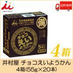 井村屋 チョコえいようかん 4箱(55g×20本) 送料無料 ポイント消化