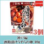 おつまみ 珍味 菊正宗 ご当地つまみの旅 酒粕漬けうずらの卵(神戸編) 40g×3袋 送料無料