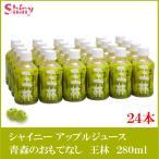 青森りんごジュース シャイニー 青森のおもてなし 王林 280ml PET×1箱(24本)