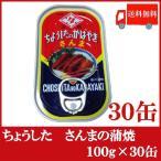 ちょうした さんまの蒲焼 缶詰 100g×30缶 送料無料 ポイント消化
