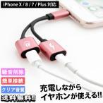 充電ケーブル 急速充電 iPhone USB 変換 アダプタ 2in1 iPhone7 iPhone8 Plus iPhoneX iPad 2個セット