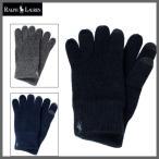 ショッピングコットン ラルフ グローブ POLO RALPH LAUREN (ポロラルフローレン) メンズ コットングローブ ニット 手袋 ポニー ロゴ 刺繍 スマホ対応 全3色 6F0498
