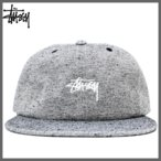 ステューシー キャップ STUSSY (ステューシー) ユニセックス 刺繍キャップ ストック ロゴ 刺繍キャップ 帽子 キャップ (BLACK) 131710