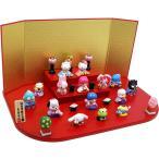 ハローキティ段飾り 陶器 雛人形 ひな人形 雛 ミニ 雛飾り 初節句 雛まつり