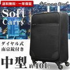 ソフトキャリーバッグ ソフトキャリーケース 中型 Mサイズ スーツケース 布製