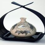 4号(花篭付)一輪生 梨釉牡丹  米寿 プレゼント 金婚式 陶器 還暦祝い 退職祝 結婚祝い 贈り物 ペア 夫婦 誕生日 プレゼント 古希 喜寿 祝い 