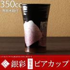 九谷焼 ビールグラス ビアカップ 銀彩 350cc 京紫 陶器 退職祝い 結婚祝い 父の日 プレゼント