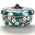 蓋付レンジ鉢(おひつ) 緑彩紅白梅 |米寿 プレゼント 金婚式 陶器 還暦祝い 退職祝 結婚祝い 贈り物 ペア 夫婦 誕生日 プレゼント 古希 喜寿 祝い|