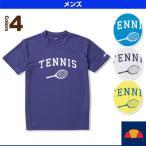 [エレッセ テニス・バドミントンウェア(メンズ/ユニ)]Racket Tee/ラケット Tシャツ/メンズ(EM17261)