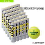 【ポイント10倍】ダンロップ テニスボール FORT(フォート)『4球入×30ペット缶』テニスボール(DFCPDYL4DOZ)