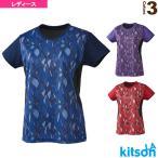 キットソン テニス・バドミントンウェア(レディース)  幾何学柄ゲームシャツ/レディース(0384014)