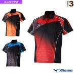 [ミズノ テニス・バドミントンウェア(メンズ/ユニ)]ゲームシャツ/全日本モデル/ユニセックス(62JA7011)