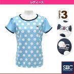 [セントクリストファー テニス・バドミントンウェア(レディース)]ポルカドットゲームTシャツ/レディース(STC-AGW2029)