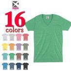 無地Tシャツ【最安値宣言】クロスCROSS/4.7ozトライブレンドVネック半袖無地Tシャツ/メンズ