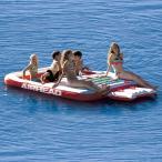 フローティング アクアラウンジ 水上 マット 6人乗り 水遊び 浮輪 水上基地 正規品