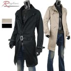 ショッピングトレンチコート トレンチコート メンズ ロング コート ロングコート 春 秋 スプリングコート G25091109