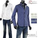 ショッピングストライプ ストライプシャツ メンズ チェックシャツ ワイシャツ ブロードシャツ ボタンダウン G300426-03
