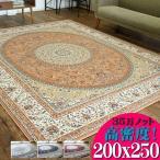 じゅうたん 3畳 大 高級 ラグ カーペット ペルシャ 絨毯 柄 200×250 ウィルトン織 ラグマット