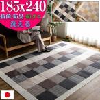 ラグ 3畳 185×240 洗える 抗菌 防ダニ 防臭 カーペット リビング 日本製 無地 ラグマット 長方形