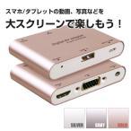 スマホ/タブレット to HDMI+VGA+Audio アダプター iPhone5以降/android/TabletPC全対応 ◇RIM-P27
