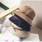 ストローハット レディース 麦わら帽子 UVカット つば広 折りたたみ 帽子 日よけ 海へ