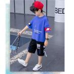 子供服 男の子 2点セット セットアップ Tシャツ ショートパンツ 上下セット 可愛い カジュアル 韓流 夏 春 AlohaMahalo