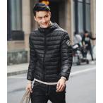 ダウンジャケット メンズ ダウンコート フード付き 冬 暖かい ショートブ アウター スリム
