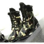 スノーブーツ 迷彩 暖かい 防寒ブーツ レディース メンズ  ショート ブーツ 防水 毛糸飾り 男女兼用