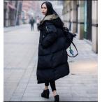 ショッピング中綿 ダウンジャケット 中綿ダウンコート 冬アウター ロング丈 レディース ファション  暖かい 帽子付き 着痩せ
