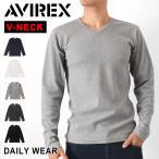 雅虎商城 - サーマル ロンT AVIREX アビレックス 下着 インナー Tシャツ Vネック 長袖 ロンT メンズ
