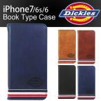 iPhone 7 6s 6 スマホケース Dickies ディッキーズ PUレザー 手帳型 ダイアリー ブランド カード アイフォン アイホン iPhone8