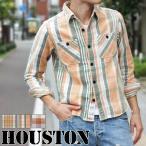 HOUSTON ヒューストン ヴィンテージ チェックワークシャツ 40251 メンズ トップス ネルシャツ 長袖 春 秋 冬 チェックシャツ アメカジ