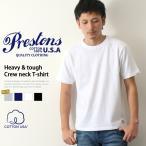 Tシャツ 半袖 メンズ プレストンズ PRESTONS ブランド トップス 無地 厚手 おしゃれ アメカジ