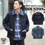 カバーオール ジャケット メンズ アウター ライトアウター コート デニム ヒューストン HOUSTON 3way ベスト ビンテージ おしゃれ ポイント消化