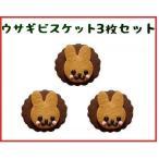 母の日 プチギフト 可愛い お菓子 ウサギビスケット 3枚セット