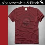 ショッピングAbercrombie 正規品 アバクロ Abercrombie&Fitch  Tシャツ 半袖 レッド Wolf Pond TEE  123-238-1475-051